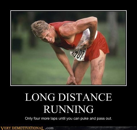 long distance running demotivation