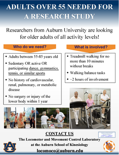 2020 AU Recruitment flyer - older adult